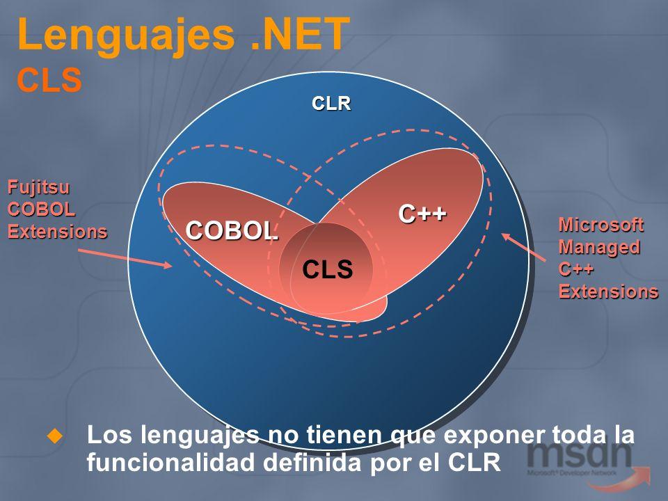 Lenguajes .NET CLS C++ COBOL CLS