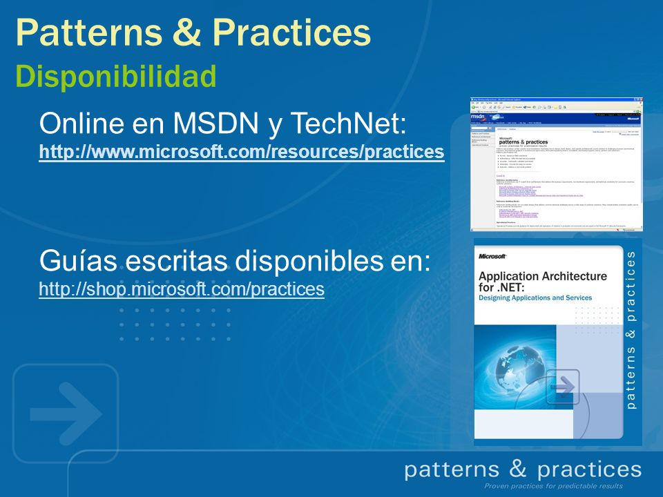 Patterns & Practices Disponibilidad
