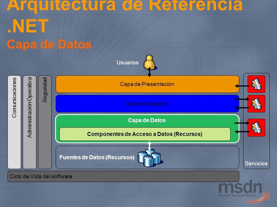 Arquitectura de Referencia .NET Capa de Datos
