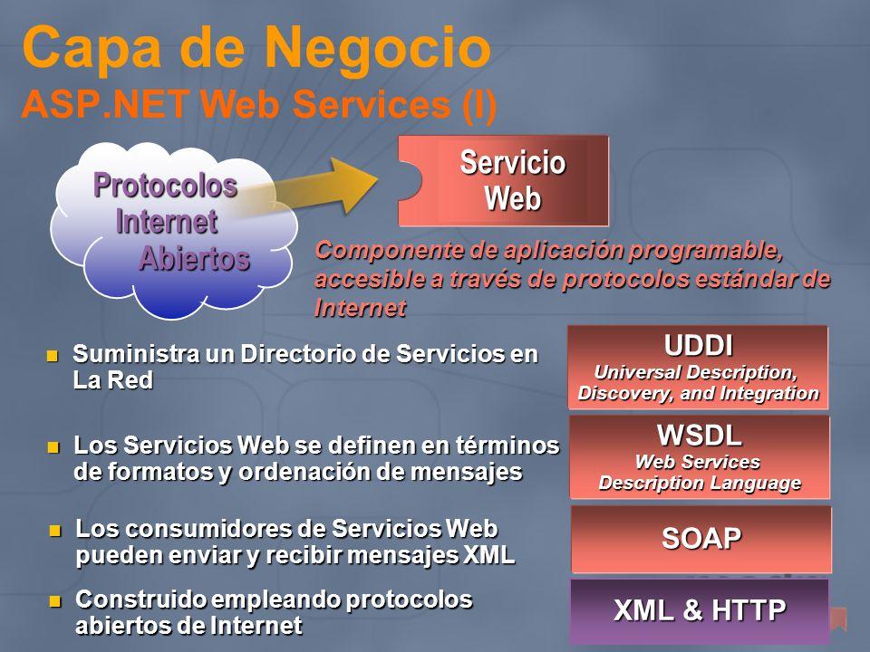 Capa de Negocio ASP.NET Web Services (I)
