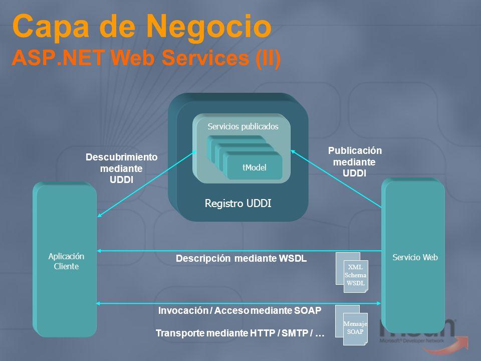Capa de Negocio ASP.NET Web Services (II)