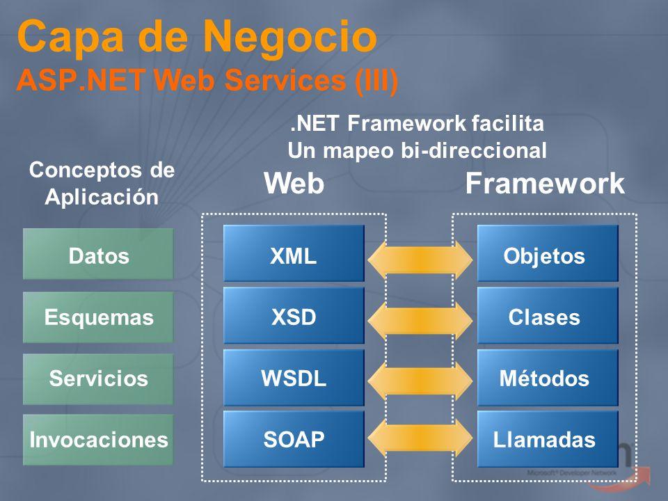 Capa de Negocio ASP.NET Web Services (III)