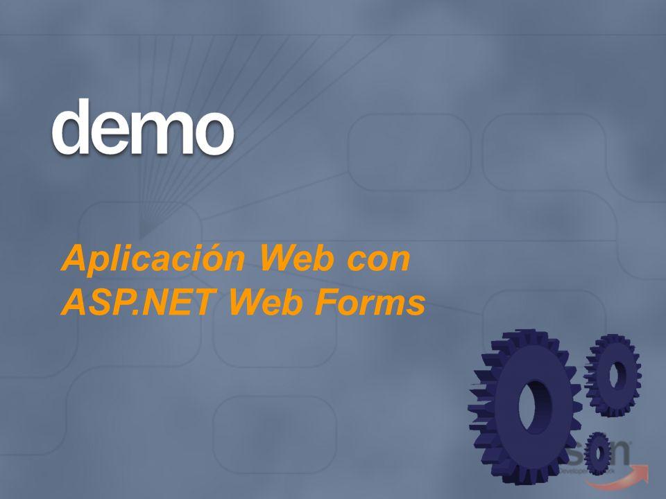 Aplicación Web con ASP.NET Web Forms