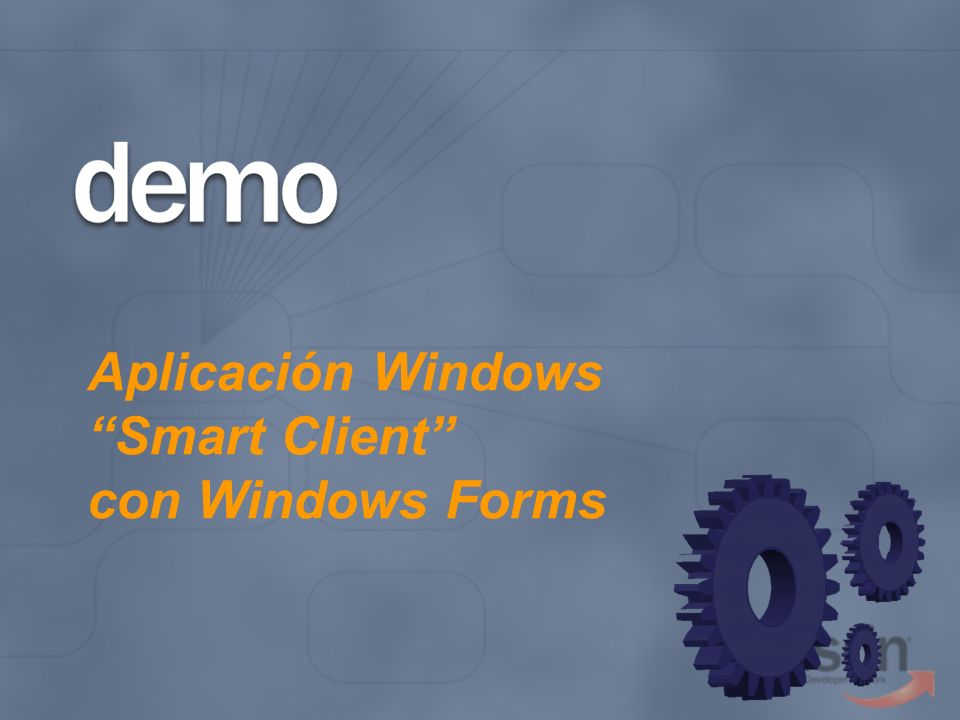 Aplicación Windows Smart Client con Windows Forms