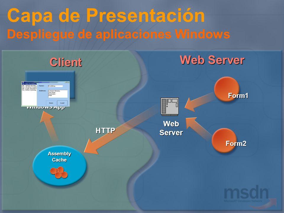 Capa de Presentación Despliegue de aplicaciones Windows