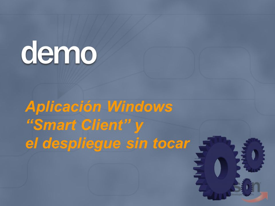 Aplicación Windows Smart Client y el despliegue sin tocar