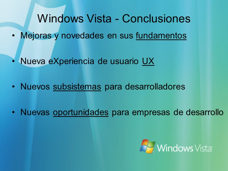 Windows Vista - Conclusiones