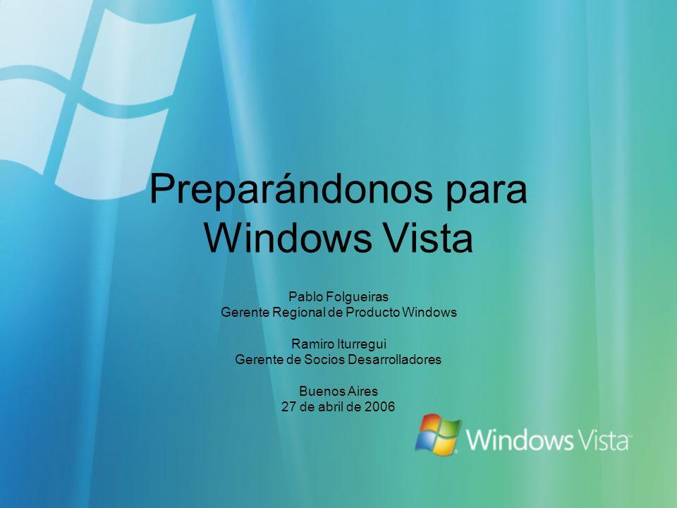Preparándonos para Windows Vista