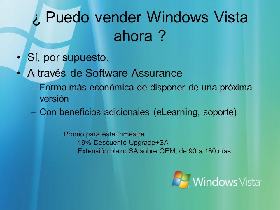 ¿ Puedo vender Windows Vista ahora