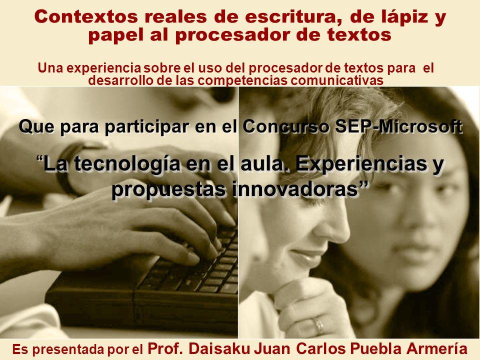 La tecnología en el aula. Experiencias y propuestas innovadoras