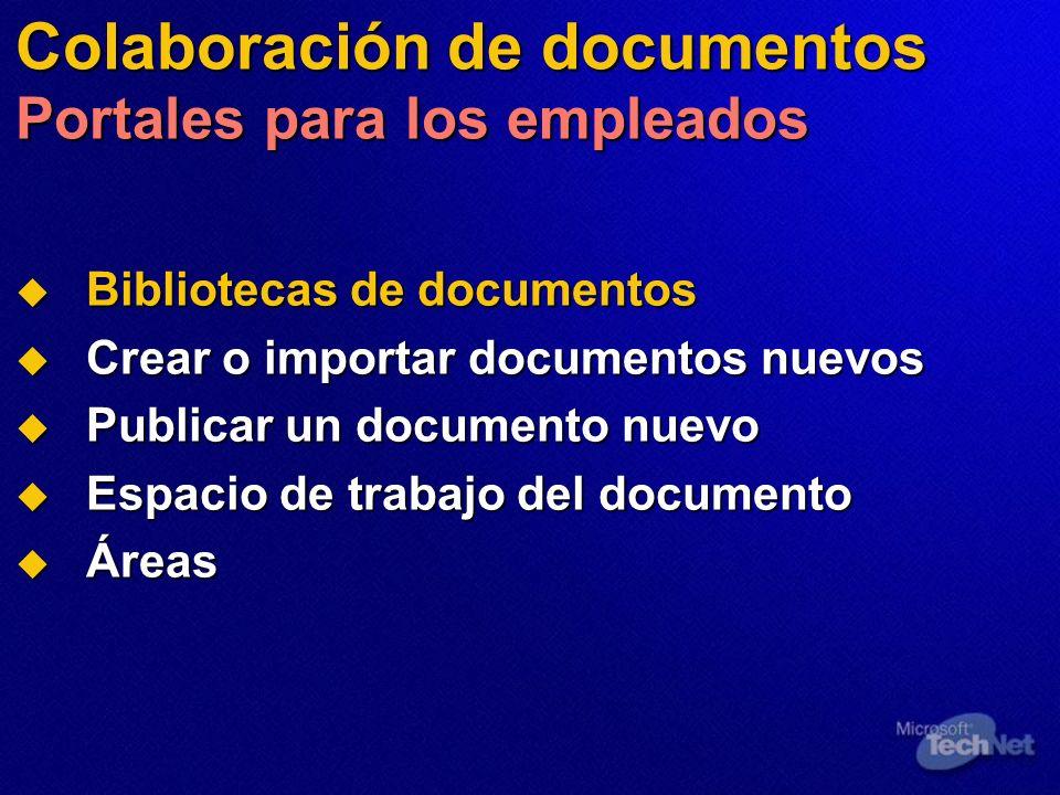 Colaboración de documentos Portales para los empleados