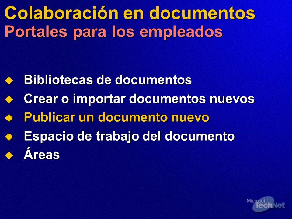 Colaboración en documentos Portales para los empleados