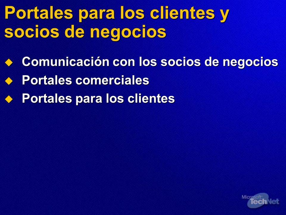 Portales para los clientes y socios de negocios
