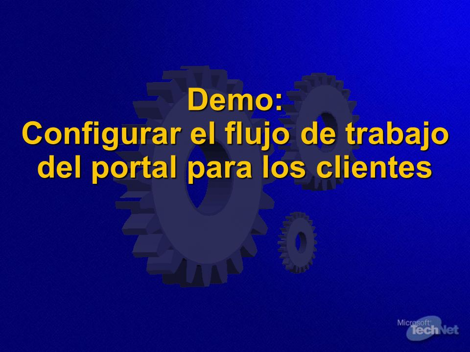 Demo: Configurar el flujo de trabajo del portal para los clientes