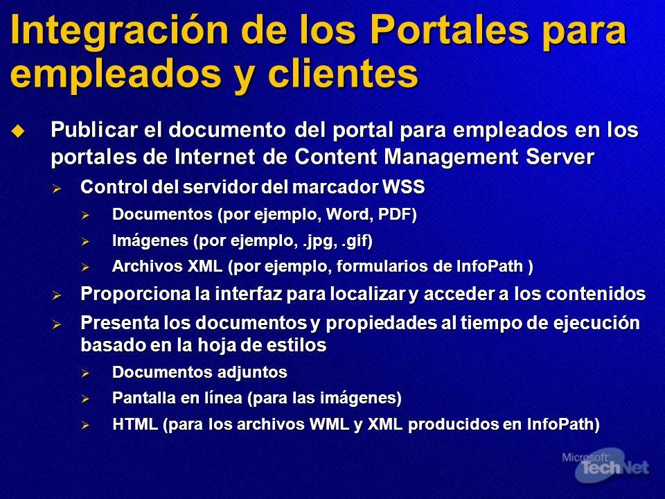Integración de los Portales para empleados y clientes