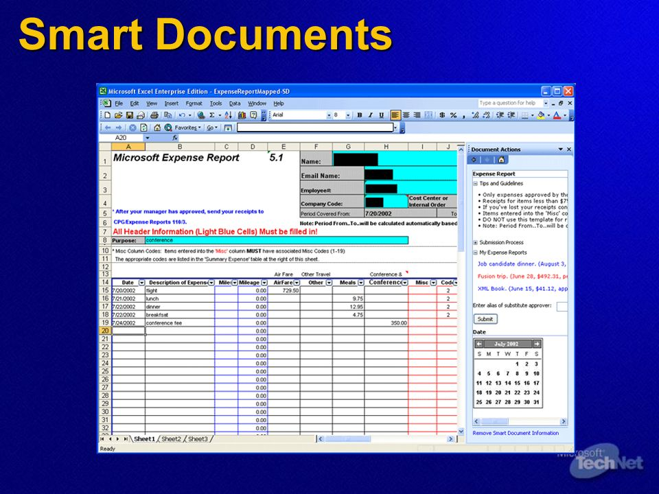 Smart DocumentsHere s how smart documents work from a solution development perspective: