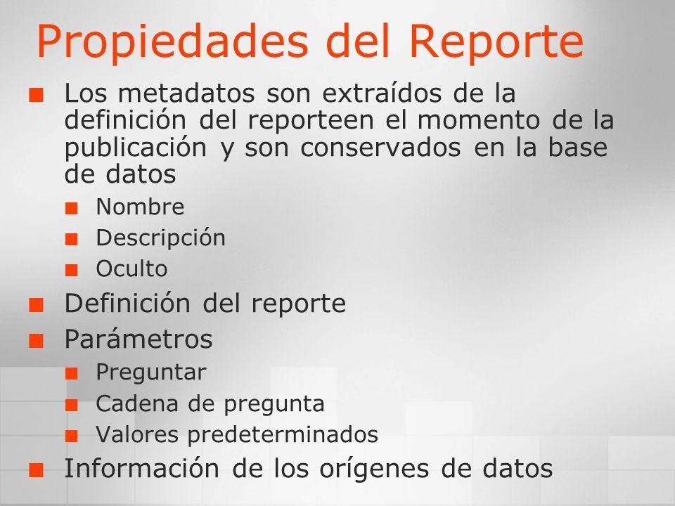 Propiedades del Reporte