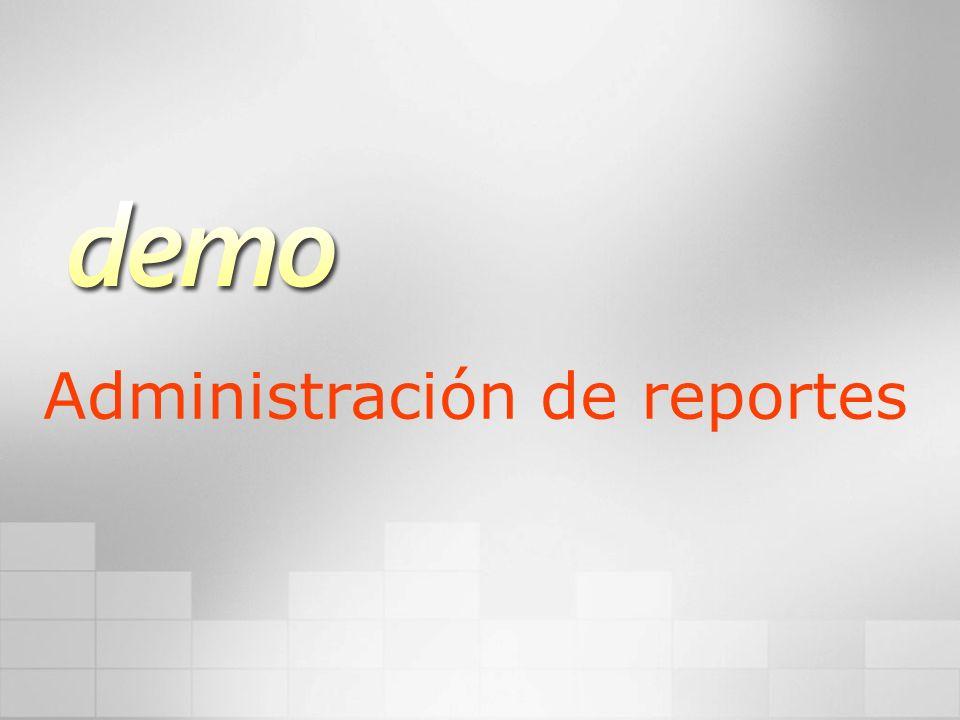 Administración de reportes