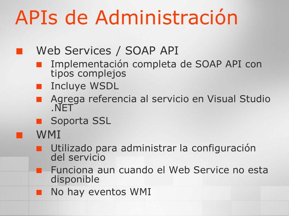 APIs de Administración