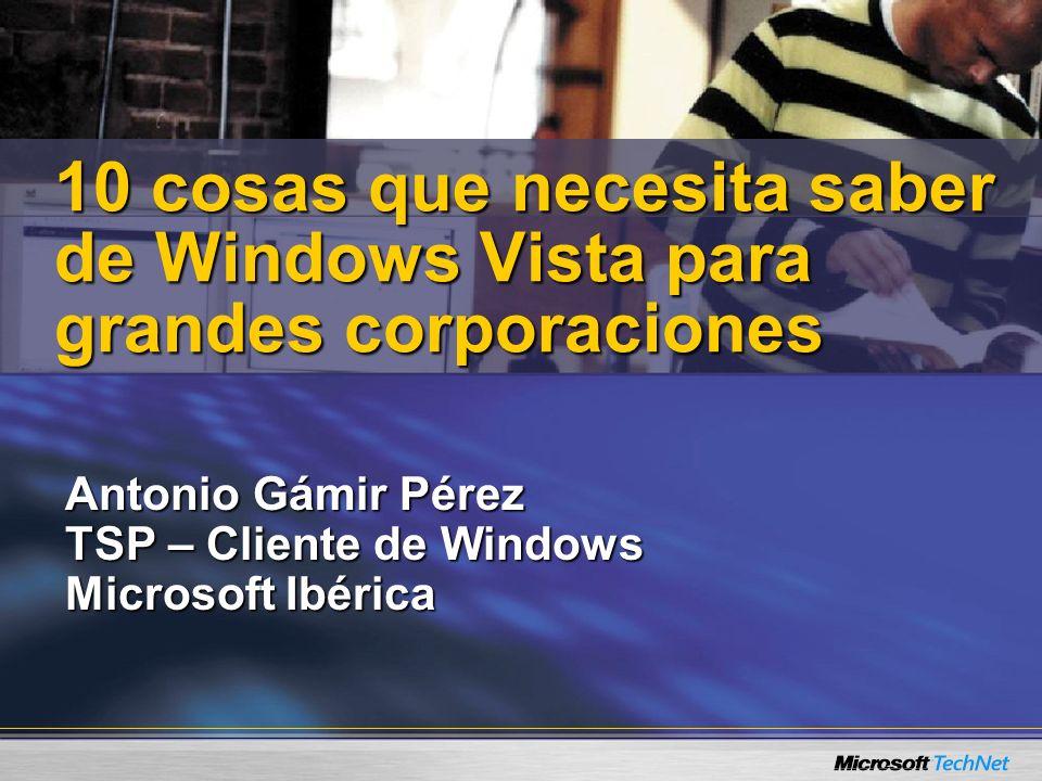 Antonio Gámir Pérez TSP – Cliente de Windows Microsoft Ibérica