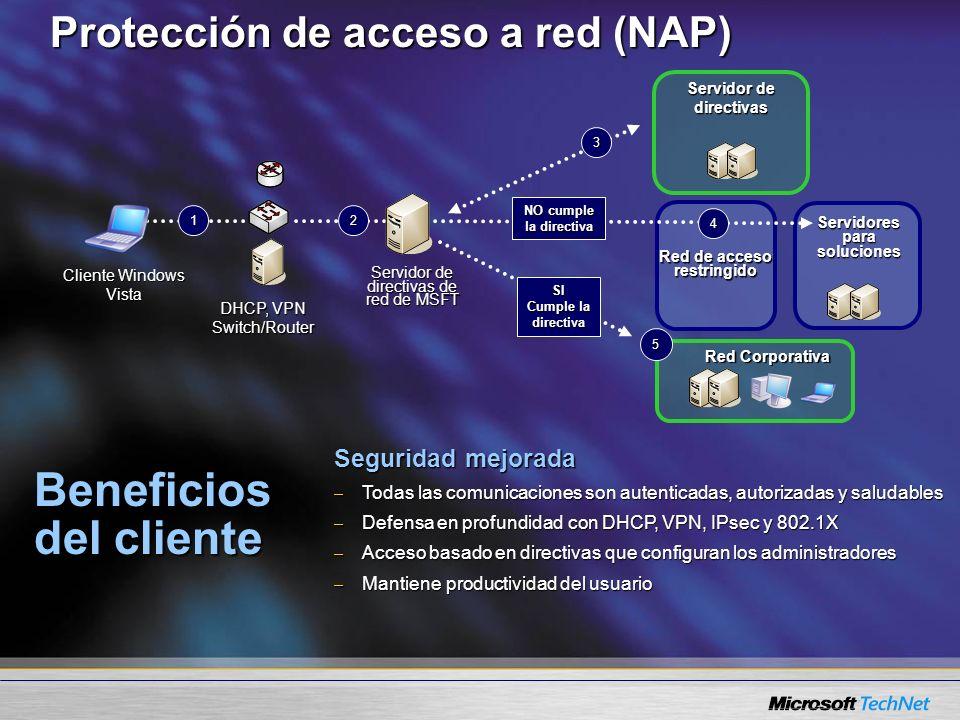 Protección de acceso a red (NAP)