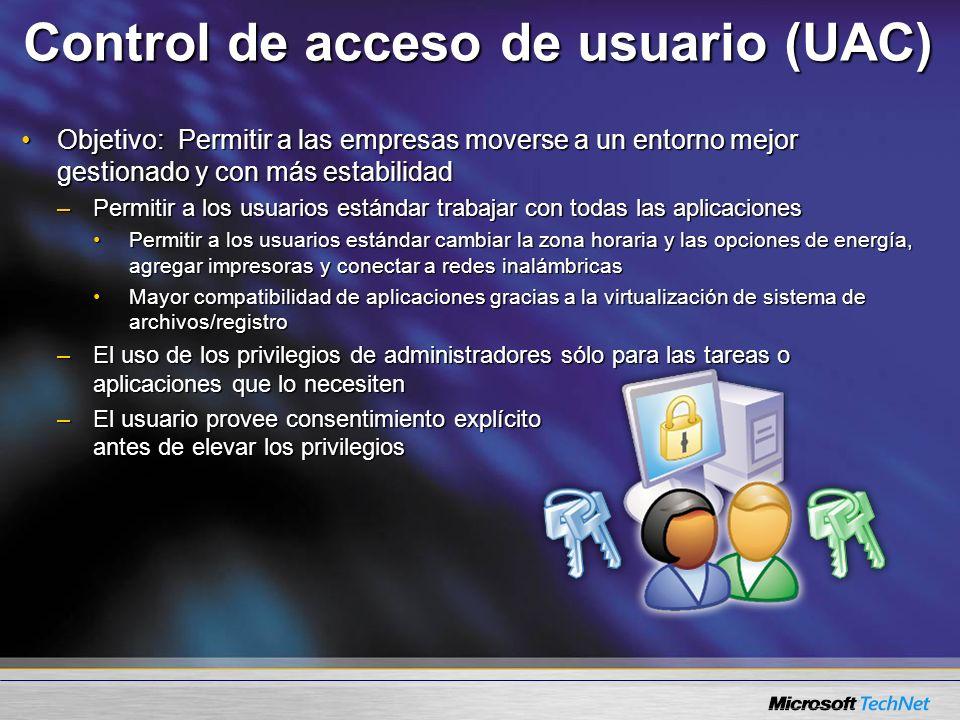Control de acceso de usuario (UAC)