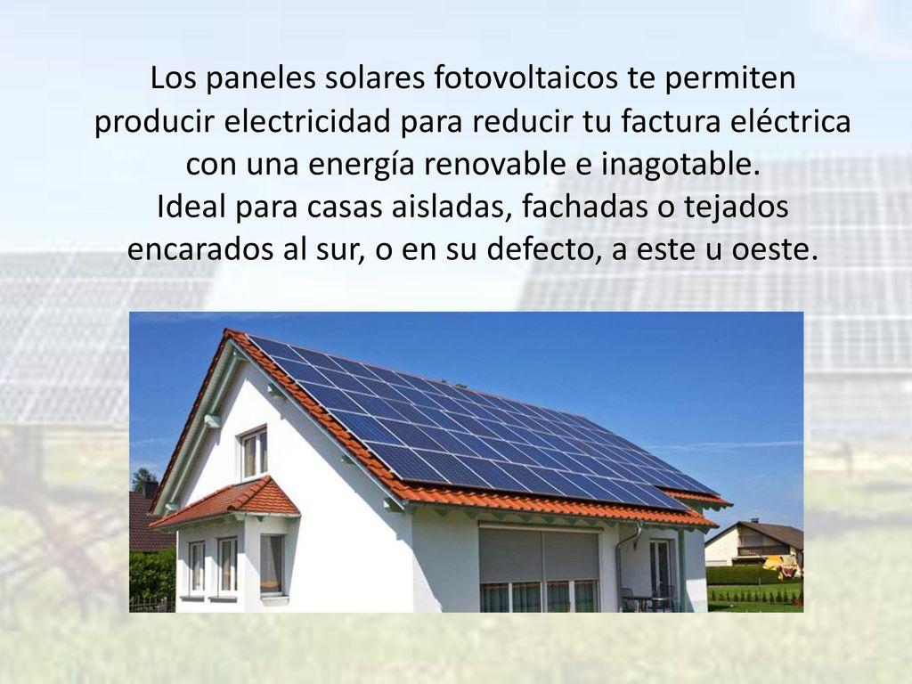 Energ a solar fotovoltaica ppt descargar - Paneles solares para abastecer una casa ...
