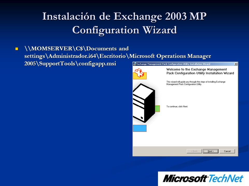 Instalación de Exchange 2003 MP Configuration Wizard