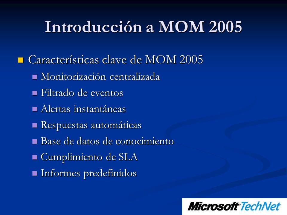 Introducción a MOM 2005 Características clave de MOM 2005