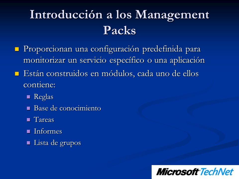 Introducción a los Management Packs