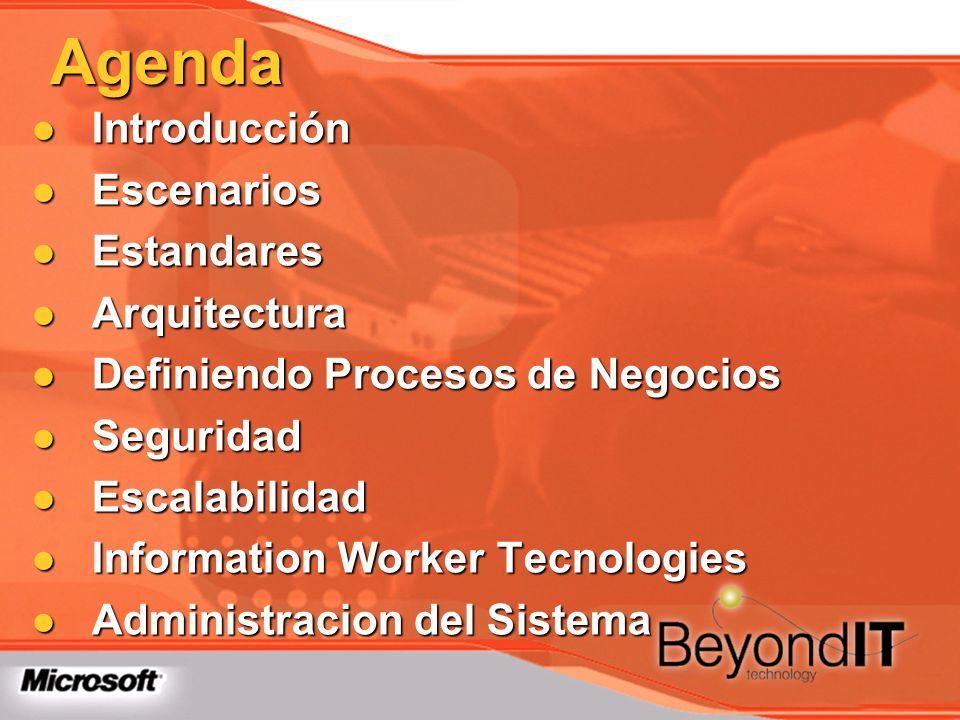 Agenda Introducción Escenarios Estandares Arquitectura