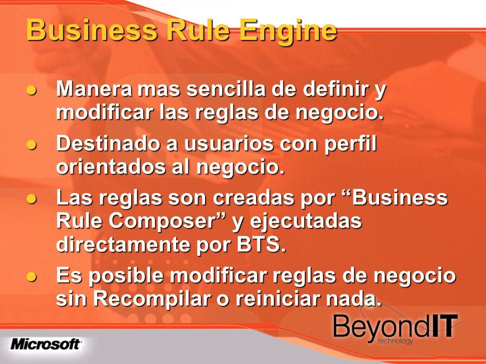 Business Rule Engine Manera mas sencilla de definir y modificar las reglas de negocio. Destinado a usuarios con perfil orientados al negocio.