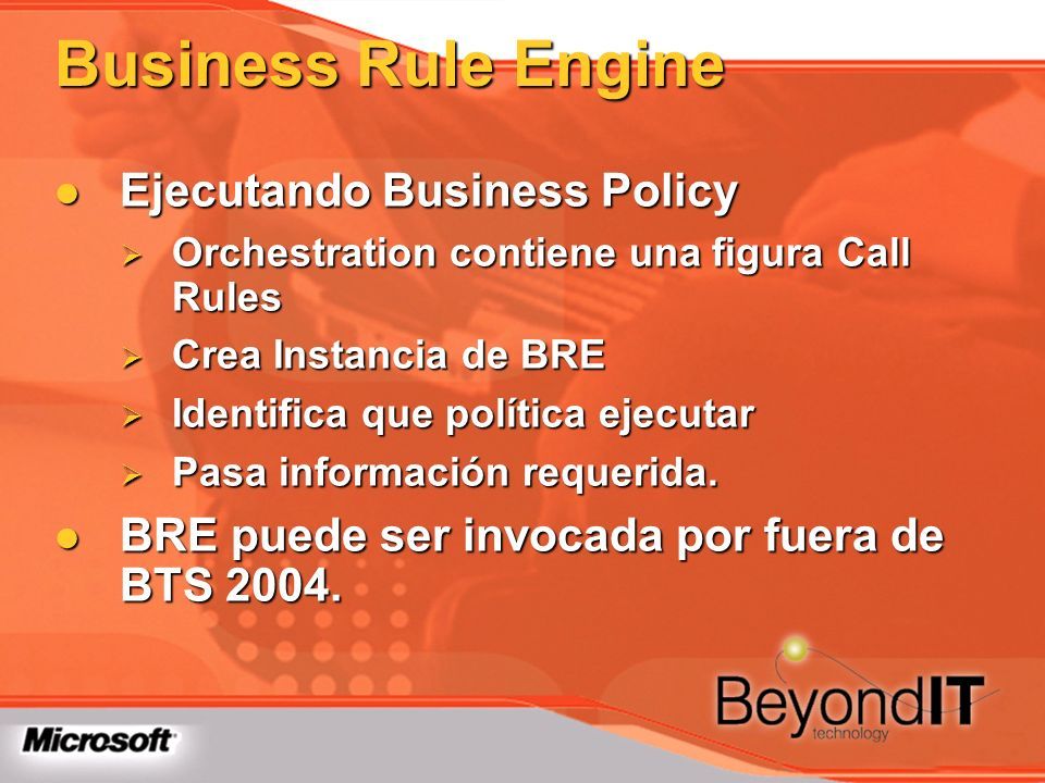 Business Rule Engine Ejecutando Business Policy