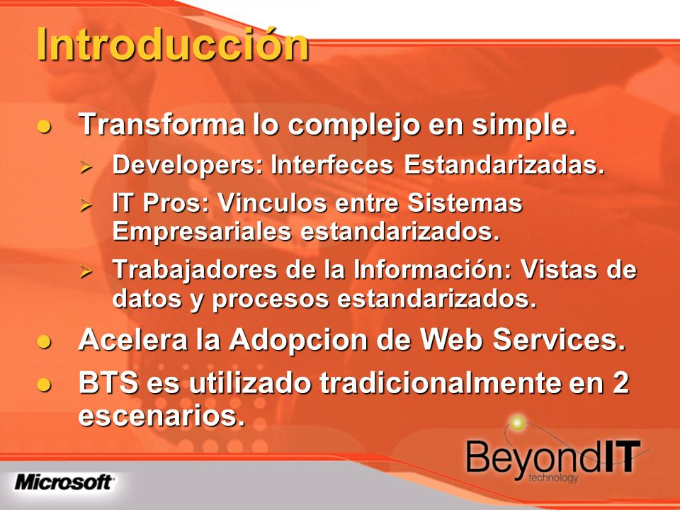 Introducción Transforma lo complejo en simple.