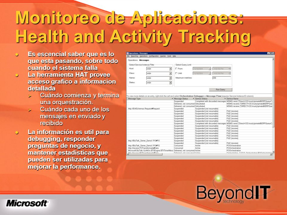 Monitoreo de Aplicaciones: Health and Activity Tracking