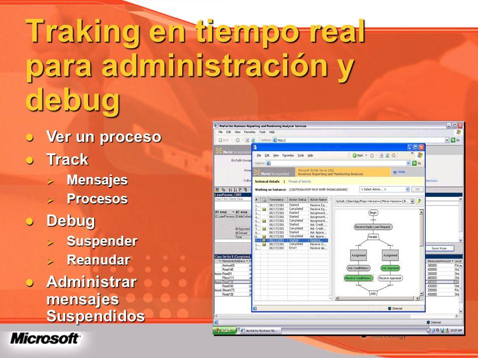 Traking en tiempo real para administración y debug