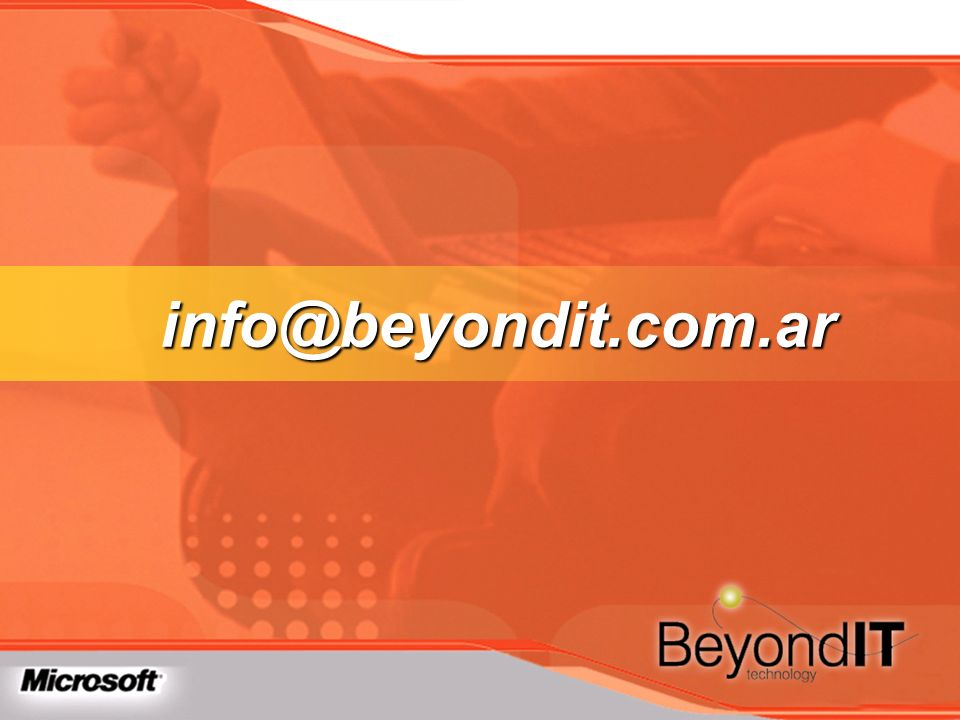 info@beyondit.com.ar TechEd 2003