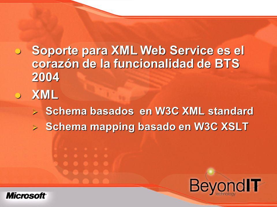 Soporte para XML Web Service es el corazón de la funcionalidad de BTS 2004