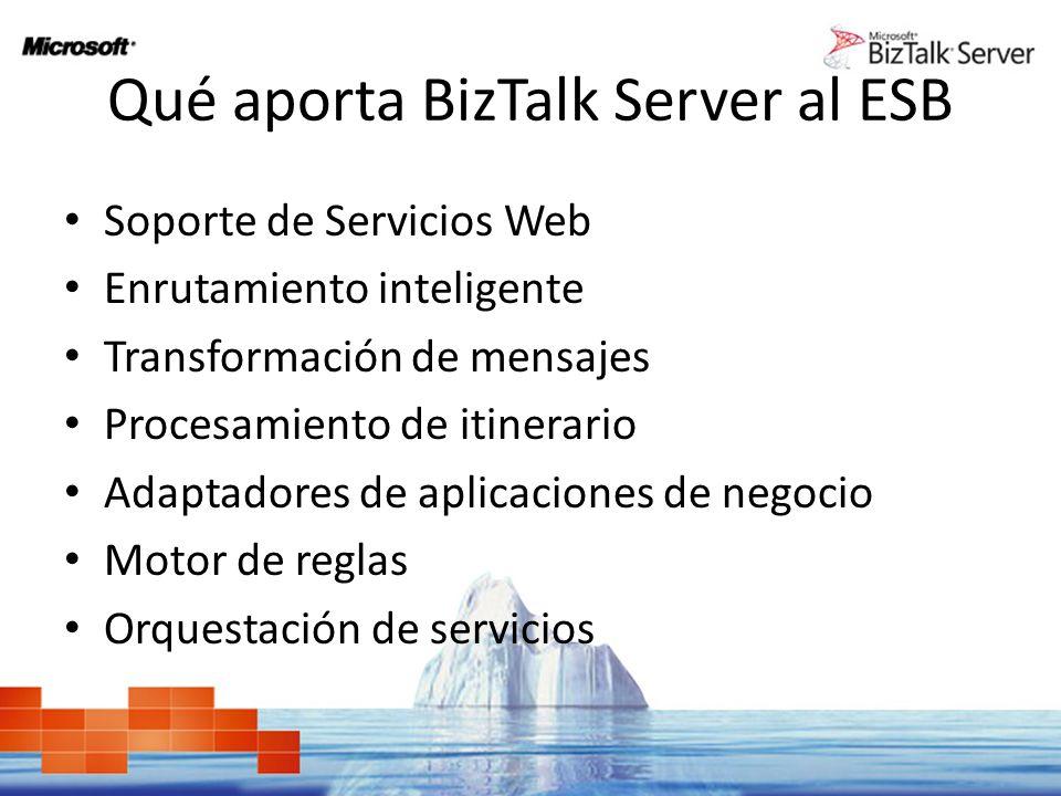 Qué aporta BizTalk Server al ESB