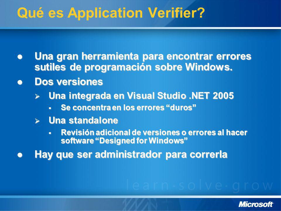Qué es Application Verifier