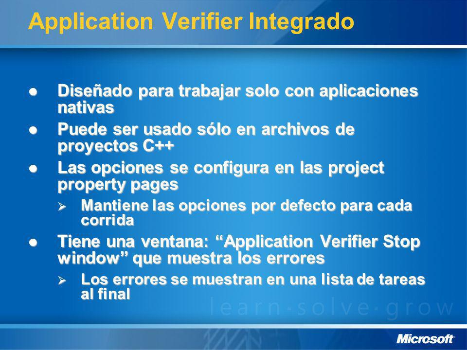 Application Verifier Integrado