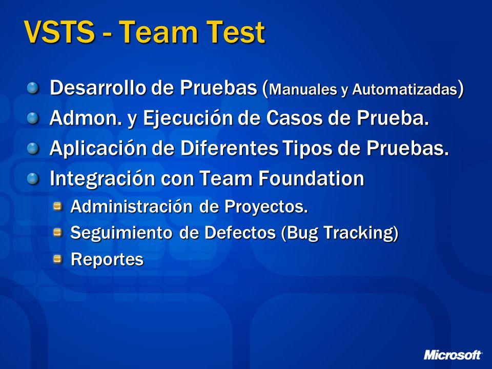 VSTS - Team Test Desarrollo de Pruebas (Manuales y Automatizadas)