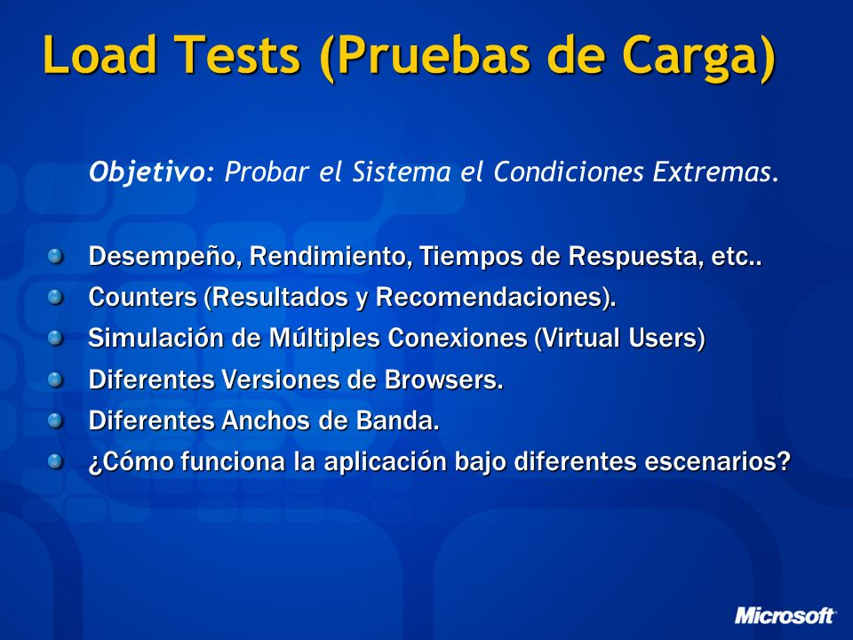 Load Tests (Pruebas de Carga)