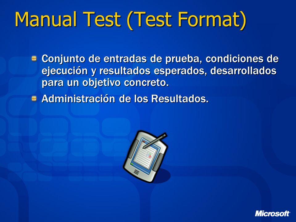 Manual Test (Test Format)