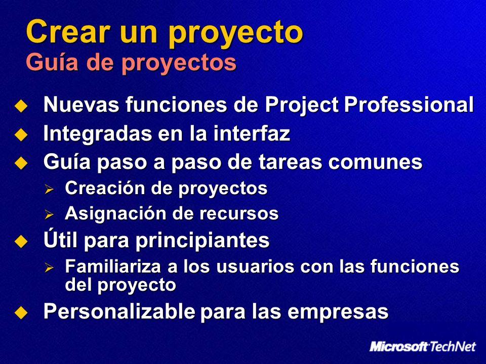 Crear un proyecto Guía de proyectos