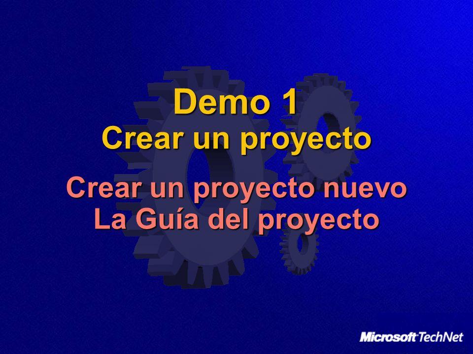 Demo 1 Crear un proyecto Crear un proyecto nuevo La Guía del proyecto
