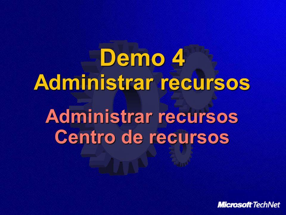 Demo 4 Administrar recursos Administrar recursos Centro de recursos