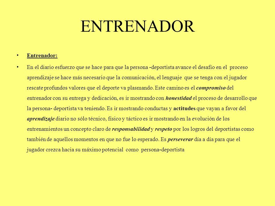 ENTRENADOR Entrenador:
