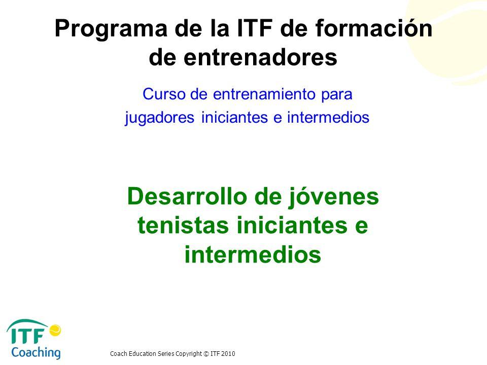 Desarrollo de jóvenes tenistas iniciantes e intermedios