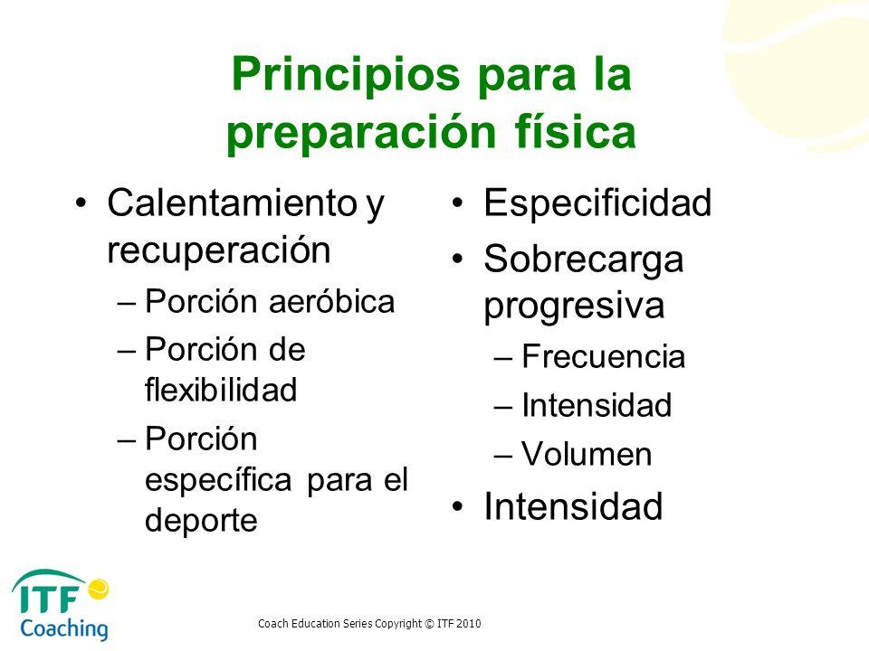 Principios para la preparación física